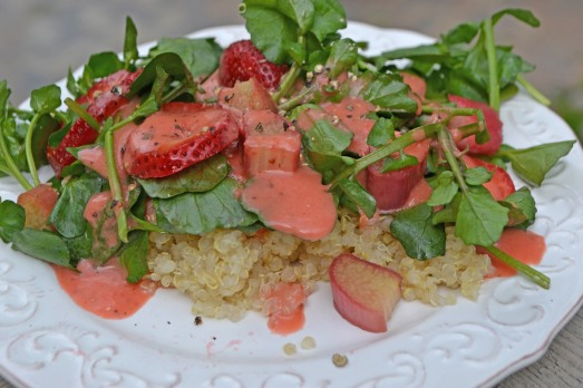 conveganence blog - strawberry rhubarb salad