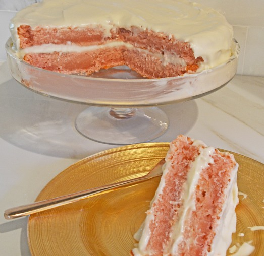 Pink Lemonade Cake - by Conveganence
