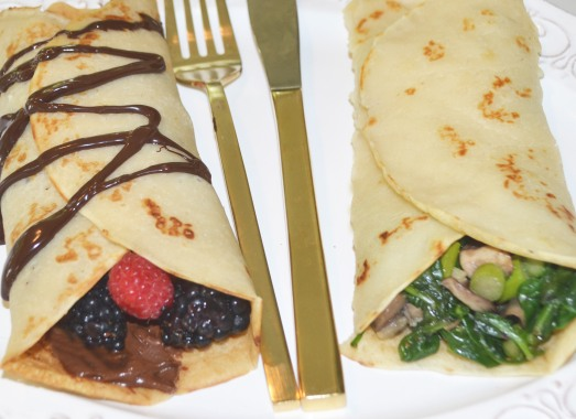 vegan sweet and savory crêpes - conveganence