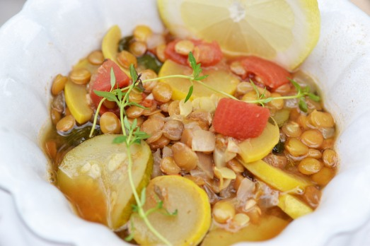 summer squash and lentil soup #vegan #glutenfree #soyfree