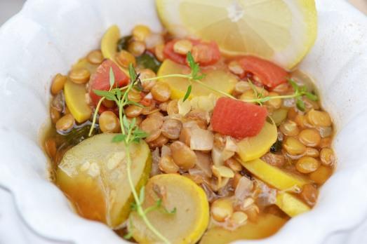 summer squash and lentil soup #vegan #glutenfree #soyfree